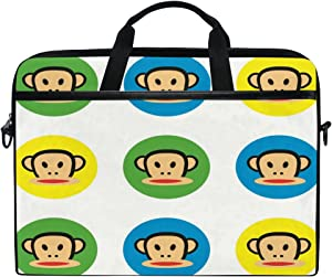 Laptop Computer Bag Cute Paul Frank Notebook Shoulder Messenger Cases Packs for Women Men (15-15.4 in)