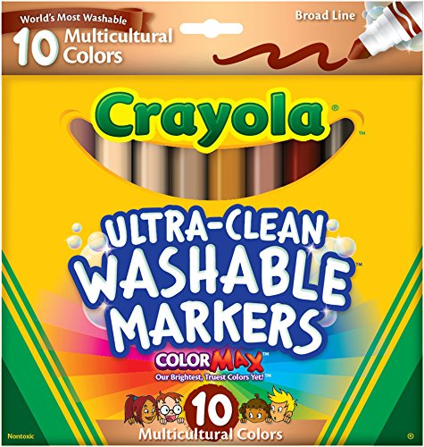 🥇 Crayola Ultraclean BL Multicultural Markers