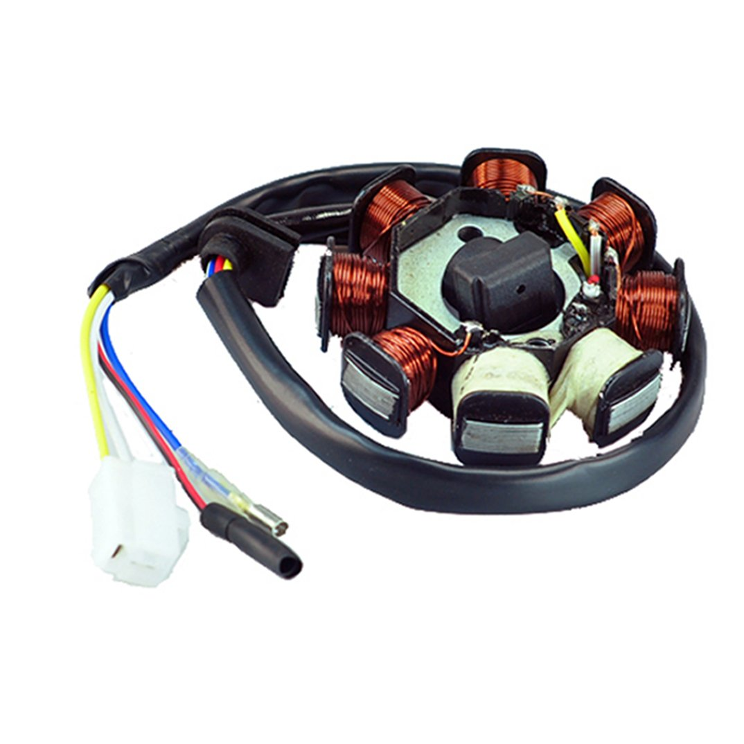 New Alternator Magneto Stator 8 Coil Pole 4 Wire Gy6 Wiring Diagram 50cc Ac Atv Scooter Sports Outdoors