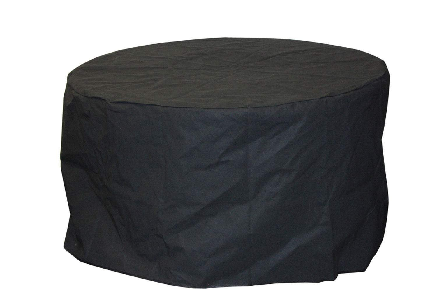 The Outdoor GreatRoom Company 42-Inch Round Vinyl Cover for Aztec, Glass 42-Inch and Chat Table, Black