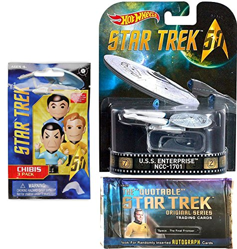 Master Chief Costume Replica (Hot Wheels Star Trek Space Pack U.S.S. Enterprise & The Quotable Star Trek: Original Series Trading Cards STAR TREK Chibi Figure Blind Bag 3-PACK)