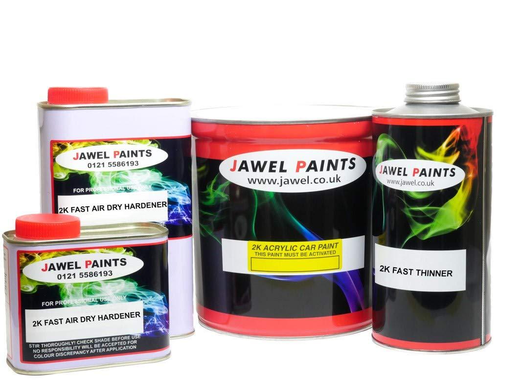 2K Car Paint 2.5 Litre Pure White Gloss 1 Litre 2k Thinner & 1.5 Litre 2k Hardener 5 lt kit