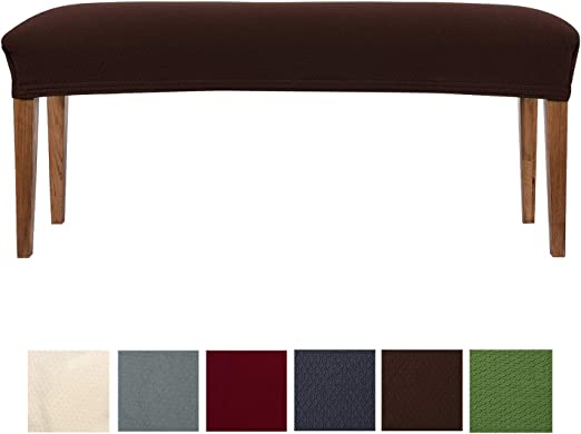 Stretch Spandex upholstered Bench Bench smiry Jacquard Dining Room Bench Covers