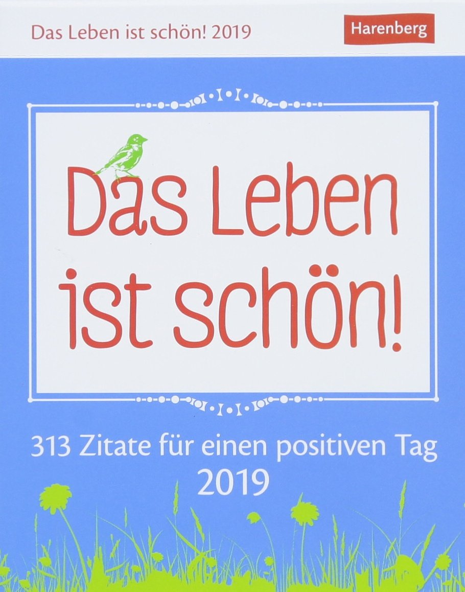 Kalender   Zitate Fur Einen Positiven Tag Amazon De Harenberg Ann Christin Artel Bucher