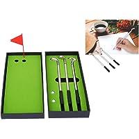 VBESTLIFE - Juego de bolígrafos y bolígrafos de Golf con diseño de Bandera de Bolas