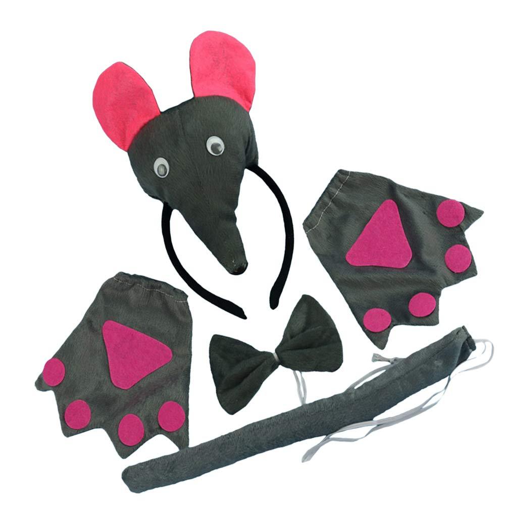 FENICAL Juego de Disfraces de Animales Diadema con Oreja de ratón ...
