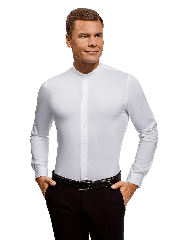 oodji Ultra Uomo Camicia Slim Fit con Collo alla Coreana RIFICZECH s.r.o. 3B140004M