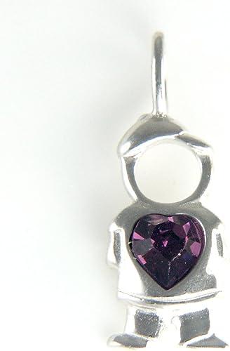 Bonyak Jewelry 18 Inch Rhodium Plated Necklace w// 4mm Red July Birth Month Stone Beads and Saint Christina The Astonishing Charm