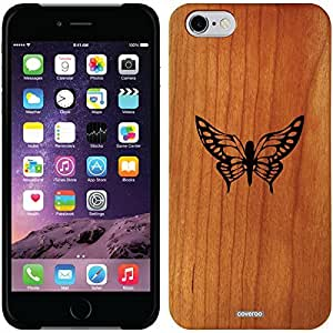 fashion case iphone 5s Madera Wood Thinshield Case with Butterfly monarch Design
