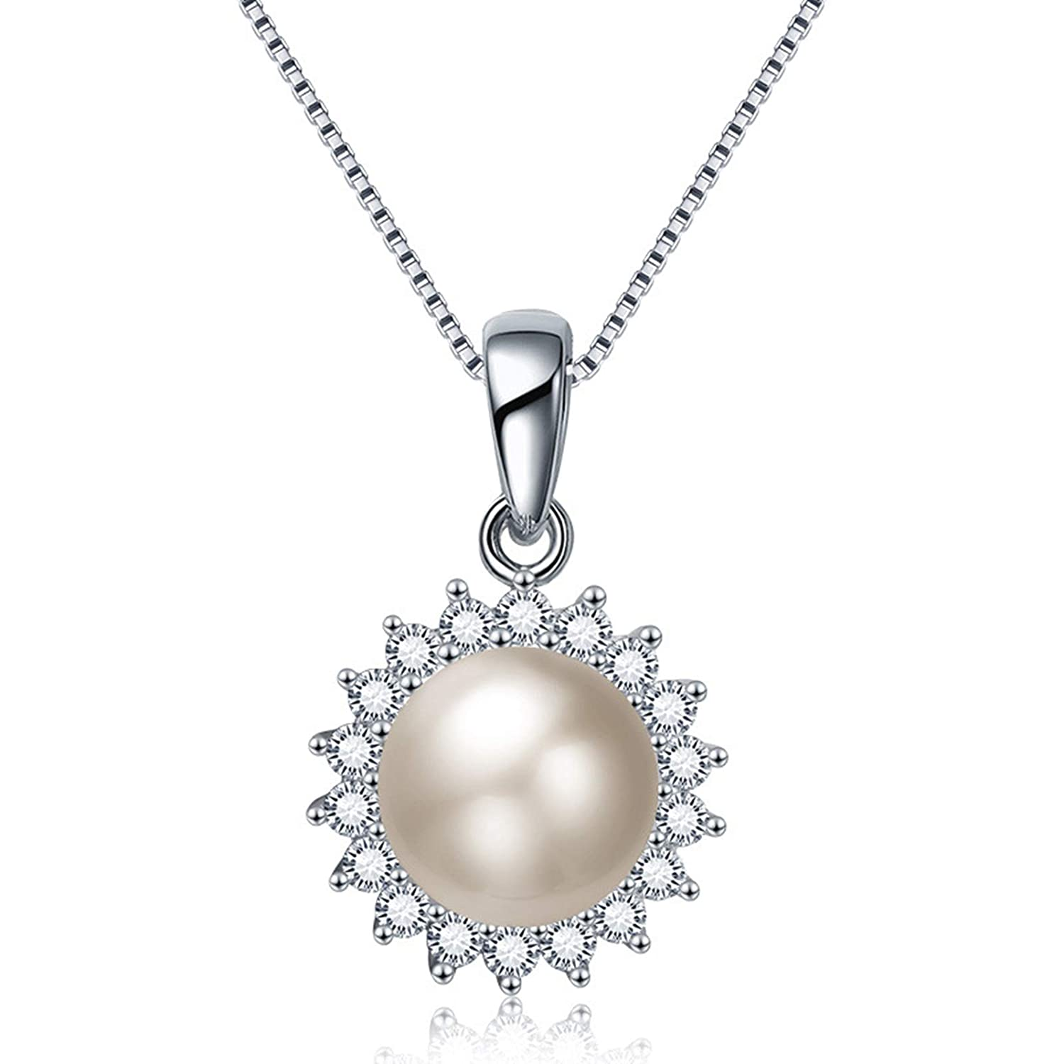 Silver Gnzoe Jewelry Sterling Silver .925 Pearl for Women