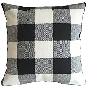 Amazon Com Black White Checkers Plaids Throw Pillow Case