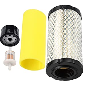 793569 Air Filter AM125424 Pre Filter Oil Filter Tune up Kit 793569 for Briggs Stratton Replace John Deere MIU11511 Rotary 12673 GY21055 with 691035 Fuel Filter Parts for Engine Lawn Mower