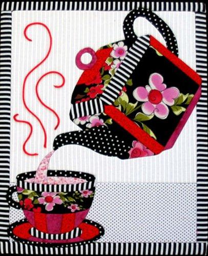 Artsi2 A2TEAST4 Tea Set Wall Hanging Kit - No Sew Quilt
