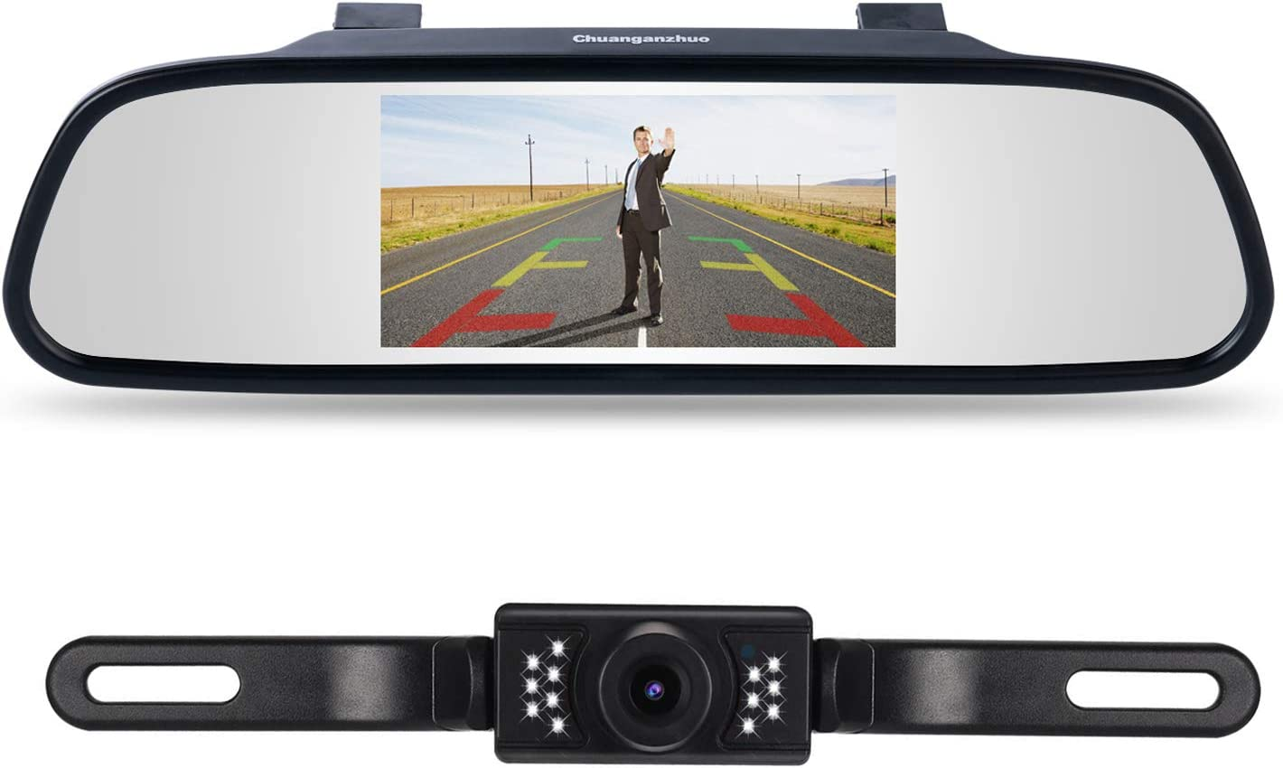 Car Rear View Reverse Backup Parking Camera License Plate Night Vision 170° CMOS