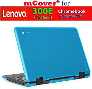 "mCover Hard Shell Case for 2019 11.6"" Lenovo 300E (2nd Gen.) 2-in-1 Chromebook Laptop (NOT Fitting Lenovo 300E Windows & N21 / N22 / N23 /100E / 500E Chromebook) (Aqua)"