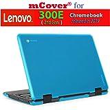 """mCover Hard Shell Case for 2019 11.6"""" Lenovo 300E (2nd Gen.) 2-in-1 Chromebook Laptop (NOT Fitting Lenovo 300E Windows & N21 / N22 / N23 /100E / 500E Chromebook) (Aqua)"""