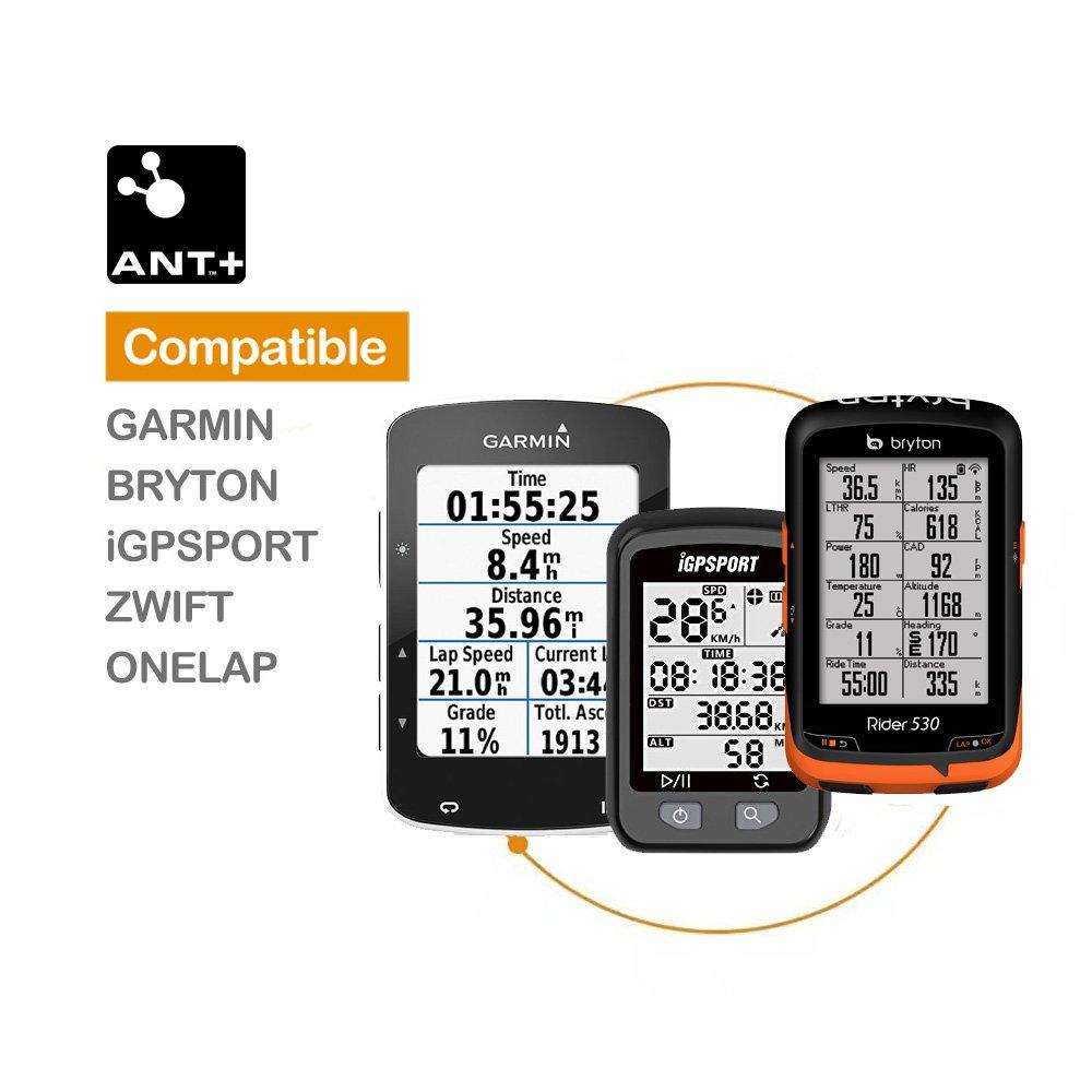 magene Gemini 200 Ant + y Bluetooth no imán Sensor de velocidad y cadencia inalámbrico compatible con ordenador de bicicleta: Amazon.es: Deportes y aire ...