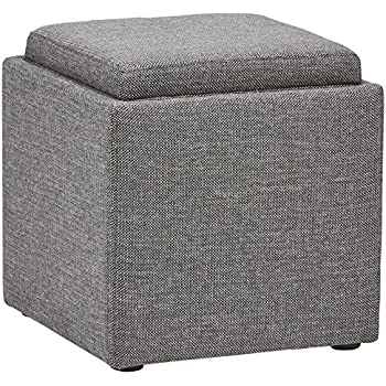 Amazon Com Eshow Ottoman Cube Shaped Storage Ottomans