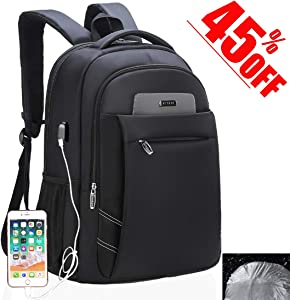 Laptop Backpack, USB Business Travel Bags Water-resistent with Rain cover School Computer Backpack, 15.6 Inch Backpack