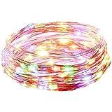 Ryham 星空の文字列ライト防水LEDライトストリングの銅線ランプ9.8フィート/3メートル30 LED、クリスマスパーティーや結婚式 (5M, RGBW)