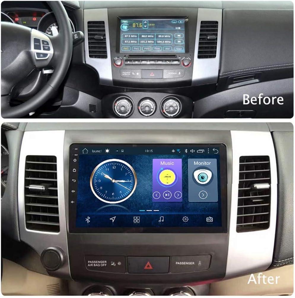 2 DIN Android 8.1 Pantalla T/áctil Completa Navegaci/ón De Radio De GPS De Coche De 9 Pulgadas para Mitsubishi Outlander 2006 2007 2008 2009 2010 2011 2012 Control del Volante