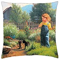 Little Gardener Throw Pillow Cover