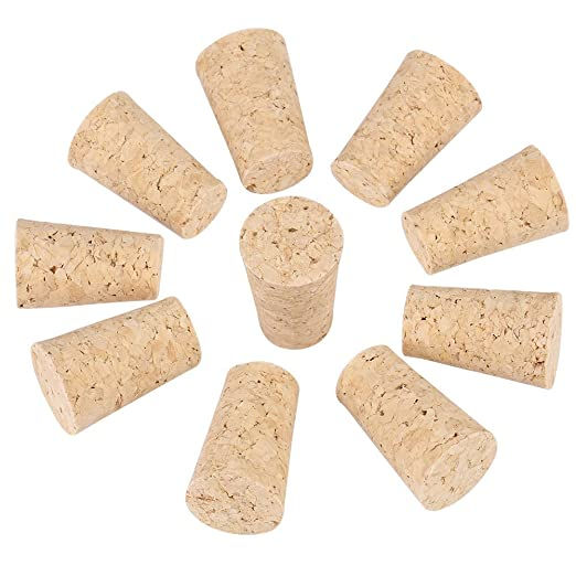 10pcs 2/tipos tap/ón de corcho natural c/ónico de madera tapones de bouteuille de vino//tapones de cerveza Bouteille de bi/ère 20*15*35mm