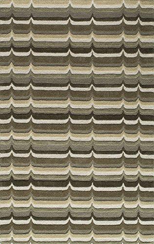 Momeni Rugs DUNESDUN-2SAG5080 Dunes Collection, Hand Tufted 100% Wool Transitional Area Rug, 5' x 8', Sage