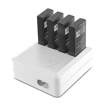 PENIVO Tello cargadores, 4 en 1 Cargador de batería del cubo de ...