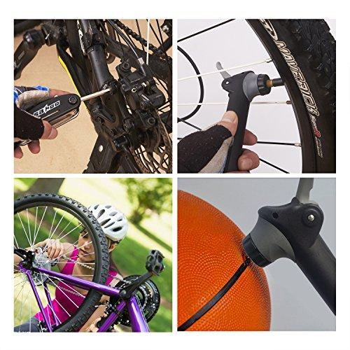 Balala Bike Repair Kit, Multi-Function Bicycle Cycling Mechanic Repair Tool, Mini Bike Pump & Mounting Bracket & Allen Wrench & Repair Tool Kit & Metal & Tire Levers & Screw & Glueless Patches & Ball by Balala (Image #5)