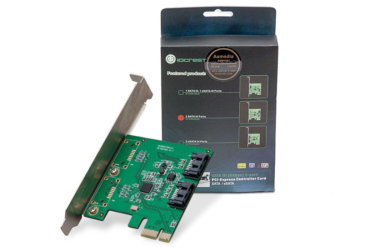 SYBA SY-PEX40039 - Tarjeta PCI-Express (2 Puertos SATA, 6 Gbit/s)