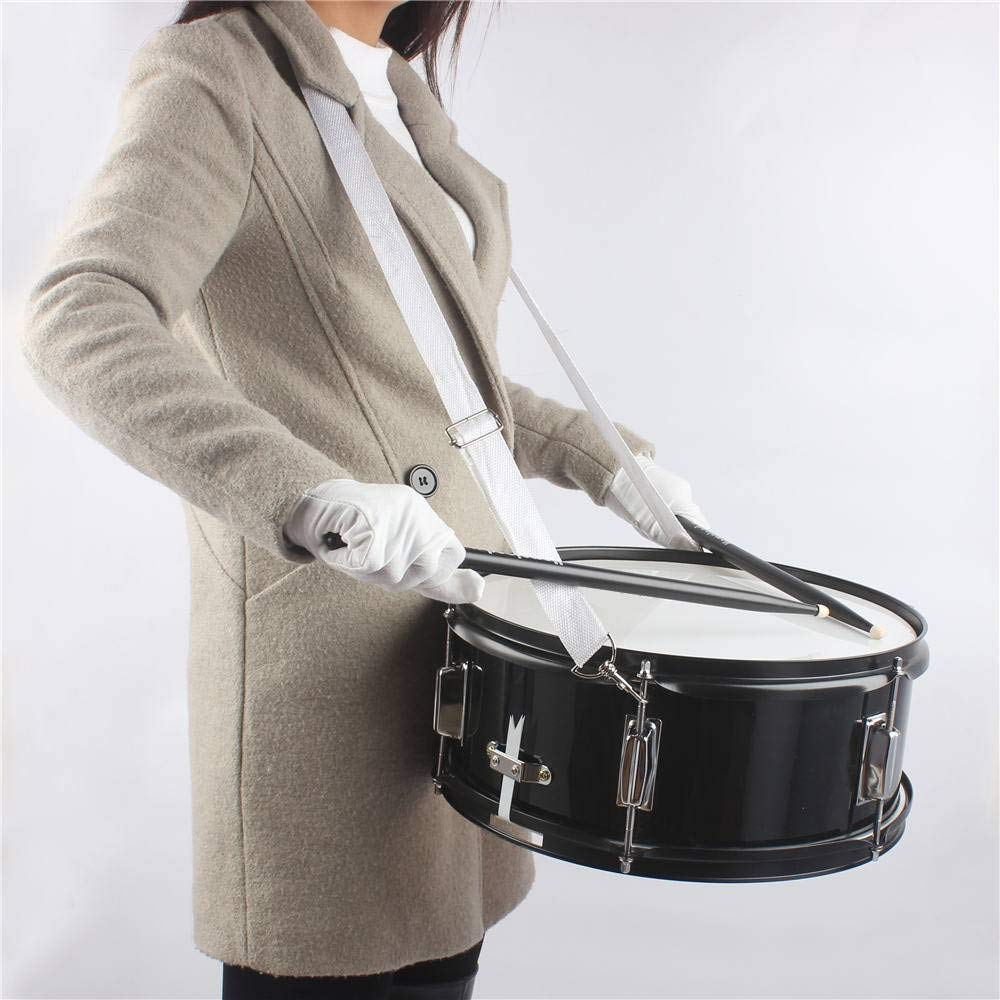 14 x 5.5 inches Professional Marching Snare Drum & Drum Stick & Strap & Wrench Kit Black by SHUTAO (Image #5)