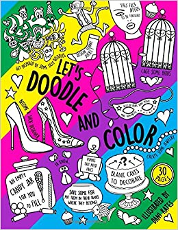 Lets Doodle Color A Doodling Coloring And Activity Book Dani Kates 9781535410120 Amazon Books