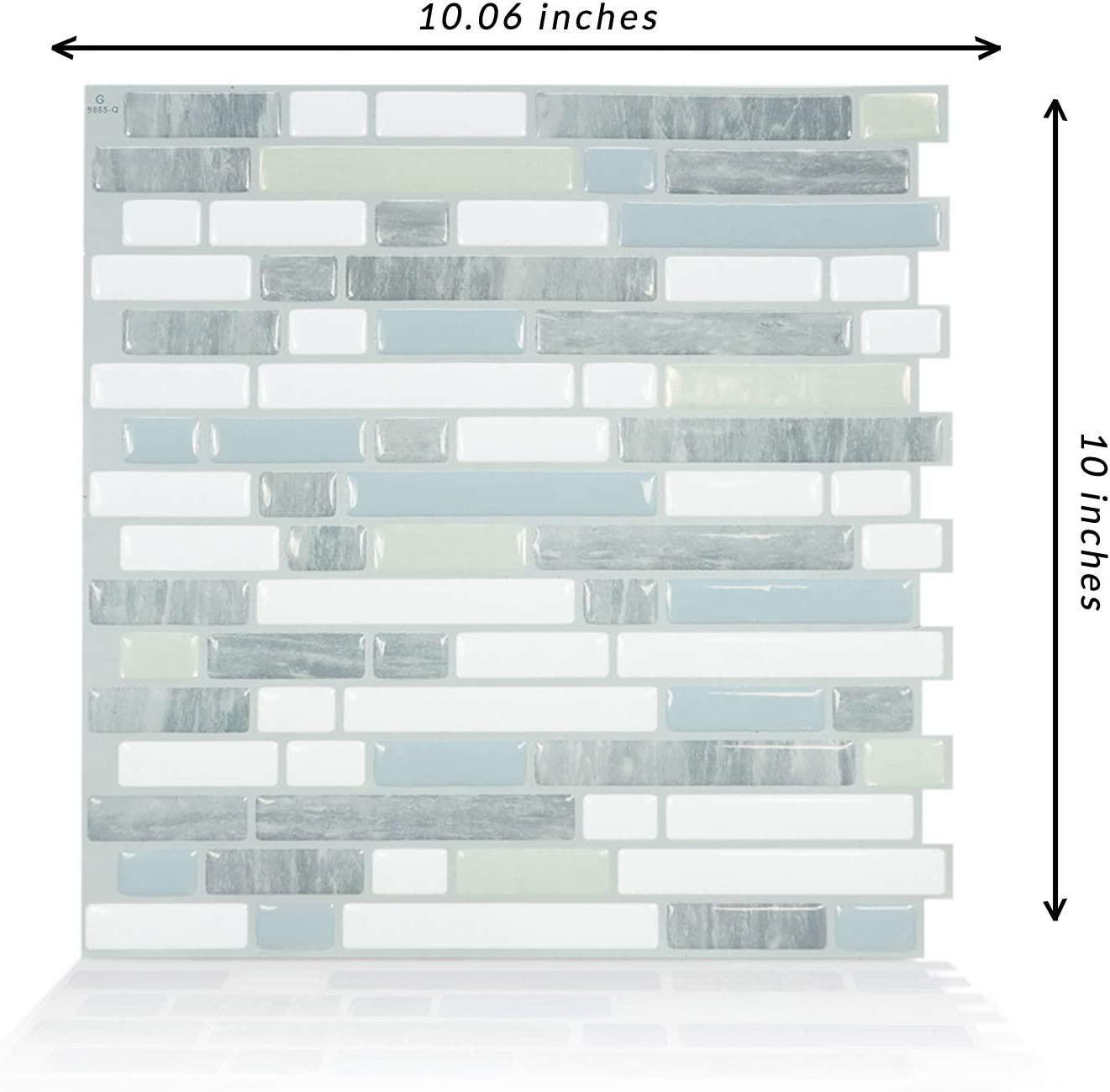- Smart Tiles Peel And Stick Backsplash Adhesive Wall Tiles Bellagio