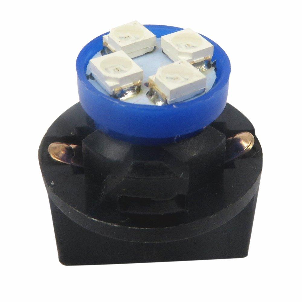 WLJH 15pcs T10 194 168 ampoule LED T5 912 LED Cluster de jauge de tableau de bord Tableau de bord Ensemble de lumi/ère LED pour 1998 1999 2000 Dakota Bleu