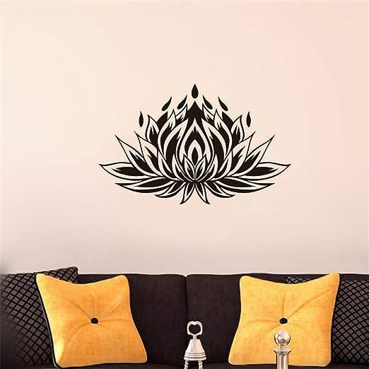 pegatina de pared Pegatina Flor de loto Yoga etiqueta ...