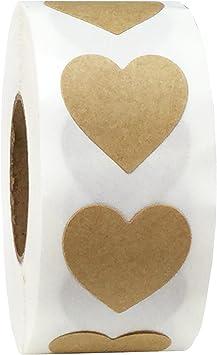 19 mm 3//4 Pulgadas Etiquetas de Puntos 500 Paquete Kraft Natural Marr/ón Pegatinas Circulares