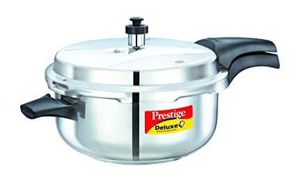 Prestige Deluxe Plus Deep Pan Induction Base Stainless Steel Pressure Cooker