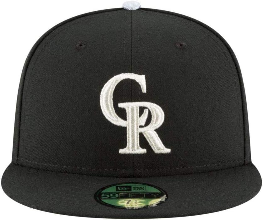 MLB BLACK Colorado Rockies New Era 59Fifty Cap