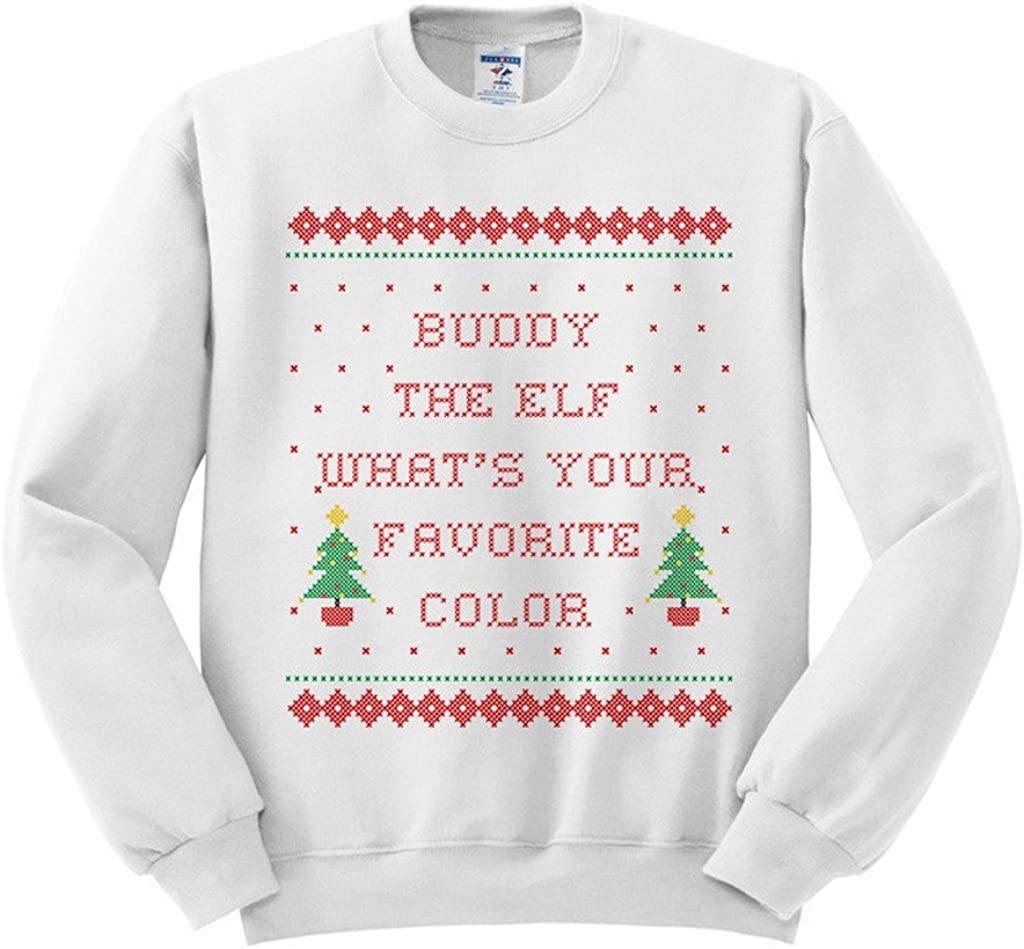 Buddy The Elf Whats Your Favorite Color Sweatshirt Unisex