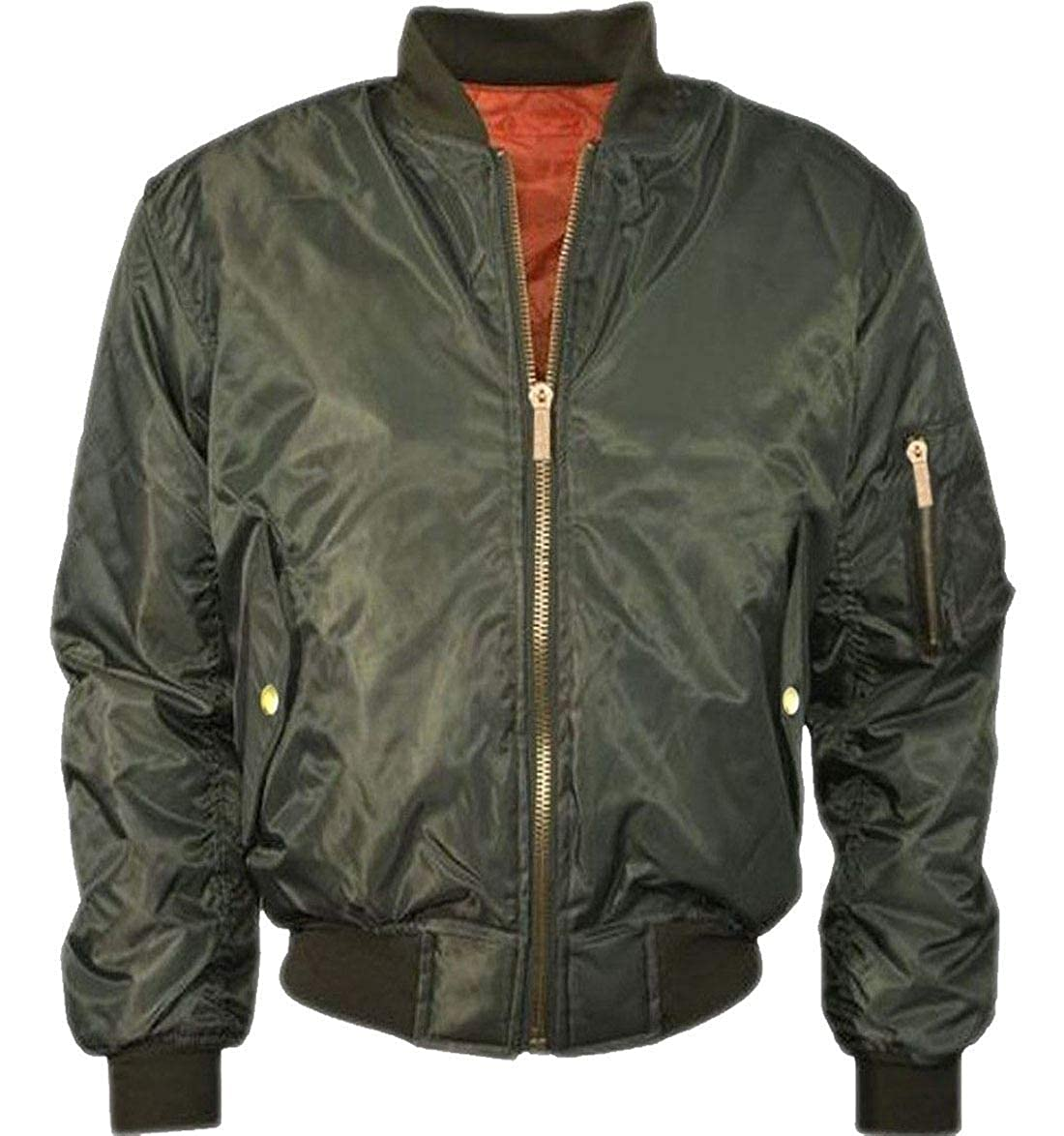 Amazon.com: Men Pilot Zip Up Biker Bomber Jacket Boy ...