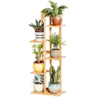 Bamboo Potted Plant Stand 5 Tiers, 40.6inch Rustproof Decorative Flower Pot Rack with Indoor Outdoor Art Planter Holders…