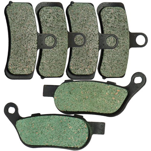 Foreverun Motor Front and Rear Brake Pads for Harley Davidson FXDF Dyna Fat Bob Cast Wheel 2008-2017