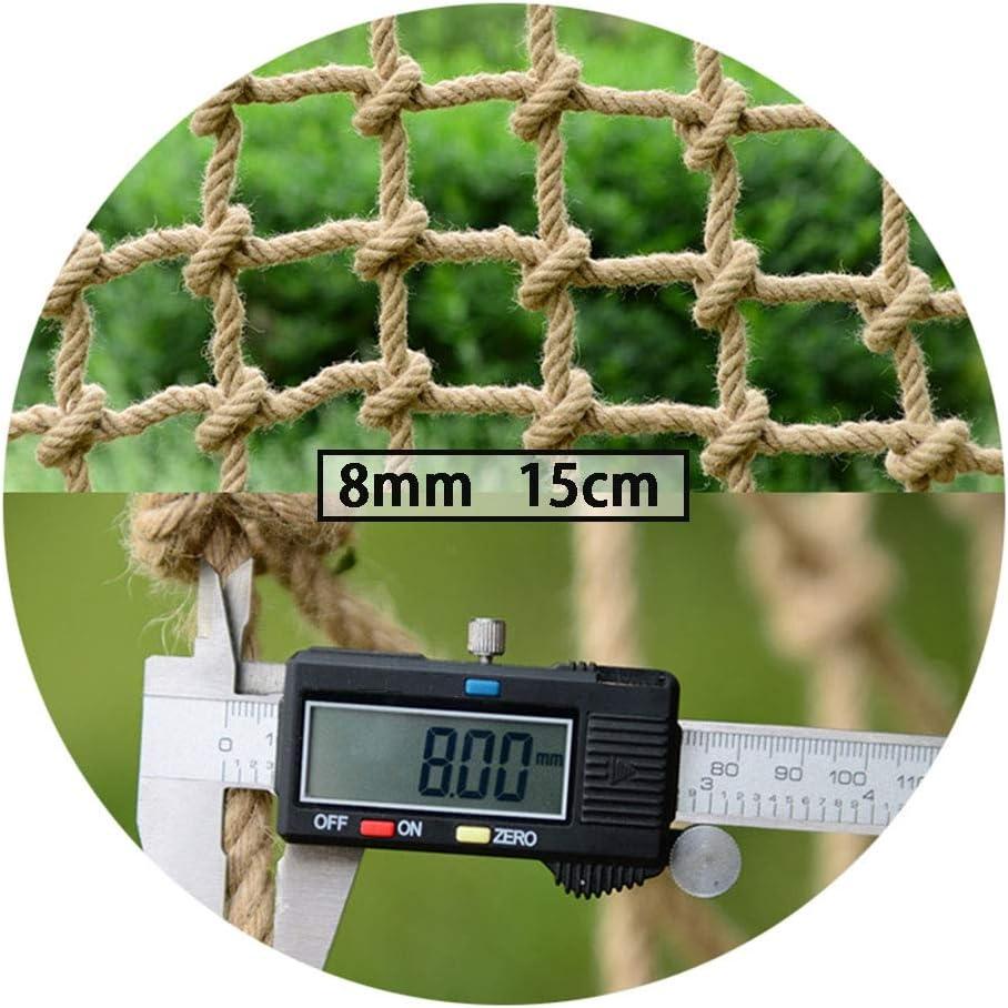 安全 ネット 、漁網装飾クライミング編まれたロープにとってバルコニー階段テラス落下防止ネット、8mm 、15cm Ljianw (Color : Beige 15cm, Size : 2X16M)