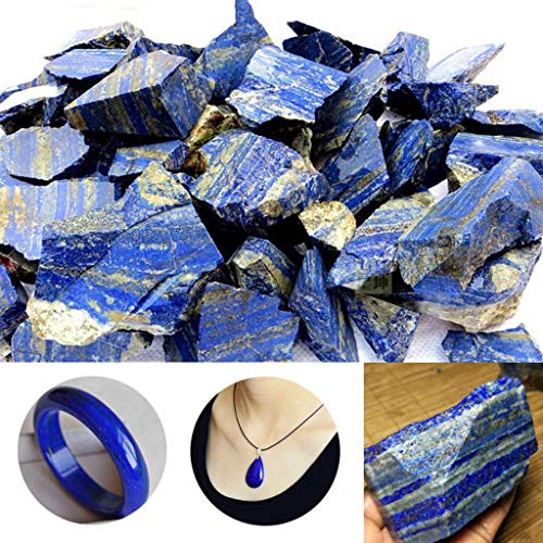 (Euone Camping Travel Bag, 100g Natural Rough Afghanistan Lapis Lazuli Crystal Raw Gemstone Mineral)
