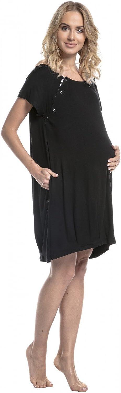 HAPPY MAMA 097p Para Mujer Camis/ón para el Parto Hospital Premam/á Lactancia