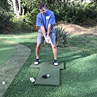 Real Feel Golf Mats Country Club Elite Portable Twin Combo Heavy Duty Practice Mat System