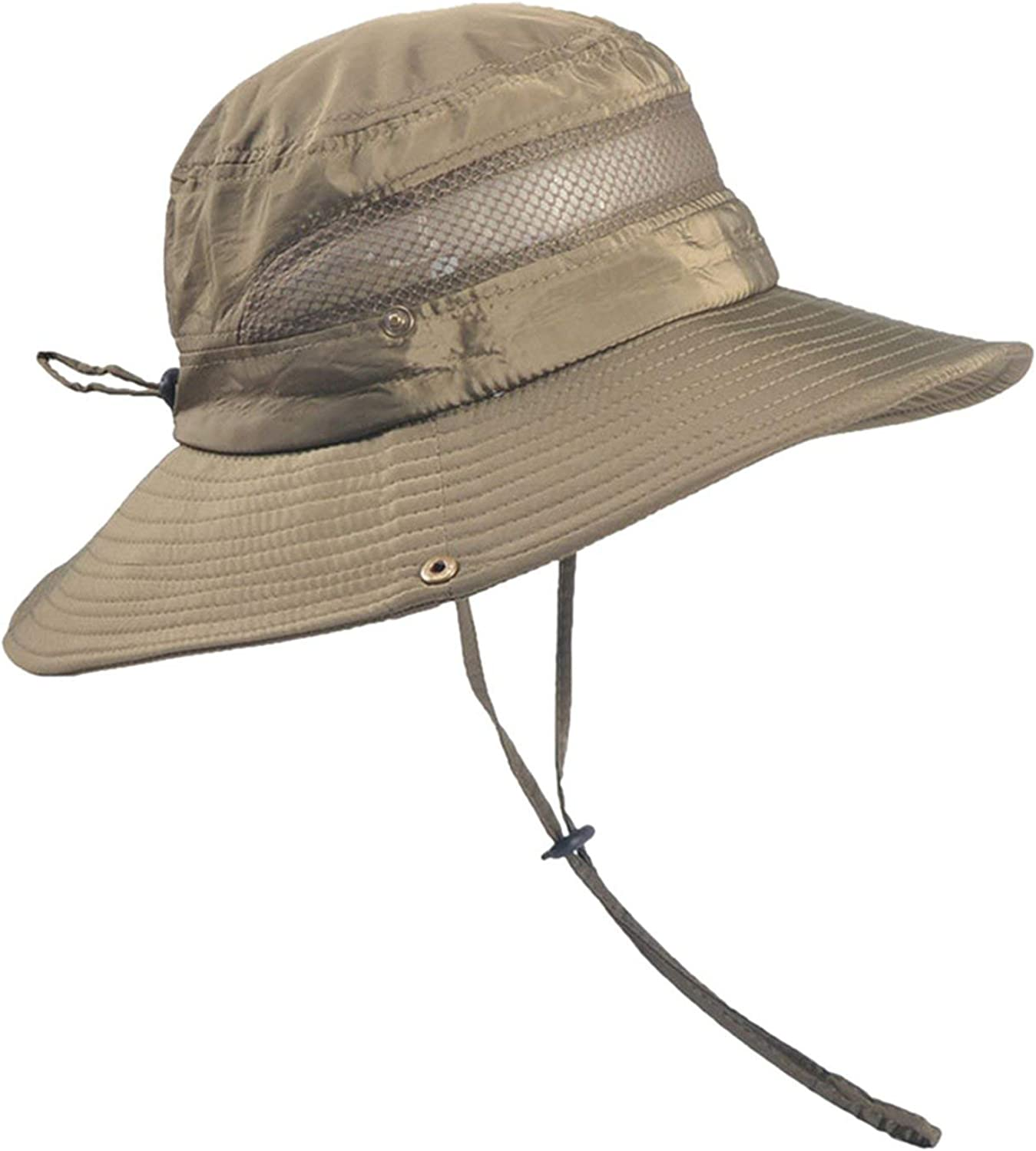 Caps for Unisex Summer Outdoor Sun Hat Protection Bucket Mesh Boonie Hat Solid Fishing Cap,G