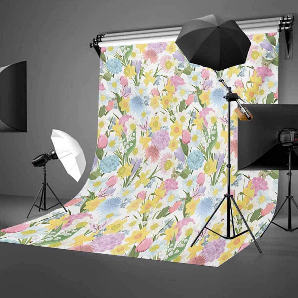 Unicorn 8x10 FT Backdrop Photographers,Mythical Animal with Colorful Mane Butterflies Stars Crescent Moons Fantasy World Background for Party Home Decor Outdoorsy Theme Vinyl Shoot Props Multicolor