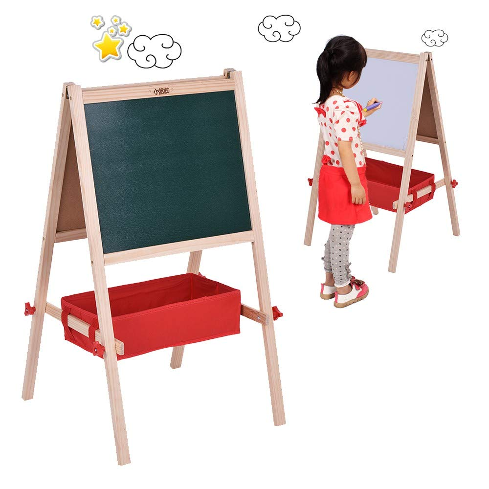 HeavenSense Board Dual-Sided Magnetic Education Board with Magnetic Letters Marker Pen Chalks Storage Box by HeavenSense